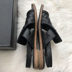 CHANEL Shoes - {CHANEL} Black Quilted Leather Sandals size 39.5